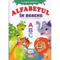 Invatam alfabetul Alfabetul in deseneContine 16 pagini cartonate cu alfabetul in desene