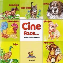 Cartea contine desenele colorate ale animalelor si pasarilor domestice