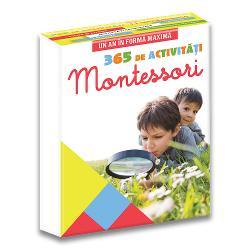 365 de activit&259;&539;i Montessori pentru copii împlini&539;i Urmând principiile Mariei Montessori îi ve&539;i plasa pe cei mici în centrul educa&539;iei parentale &537;i le ve&539;i permite s&259;-&537;i câ&537;tige autonomia &537;i încrederea în sine Pe tot parcursul anului aceste 365 de file v&259; vor ajuta s&259; descoperi&539;i principiile de educa&539;ie propuse de Maria Montessori precum &537;i