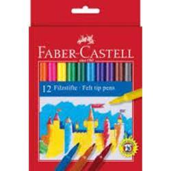Carioci Faber Castell in culori luminoase si expresive de calitate deosebita Cariocile sunt prevazute cu un capac ventilat si un varf robust rezistent la presiune crescuta Cariocile au cerneala pe baza de apa si substante naturale Cariocile se pot curata de pe majoritatea materialelor textile Cariocile sunt potrivite pentru orele de desen si lucru manual de la scoala sau pentru gradinita Cariocile se livreaza ambalate in cutie de carton 12 culoricutie Nu