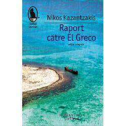 Raport caƒtre El Greco nu este un text strict autobiografic dupaƒ cum insusi scriitorul maƒrturiseste ritos  nu este un volum de memorialisticaƒ sau de insemnaƒri de caƒlaƒtorie desi in paginile lui se deruleazaƒ o fascinantaƒ perpetuaƒ caƒlaƒtorie Ultima carte scrisaƒ de Nikos Kazantzakis este un testament literar o prozaƒ in care cititorul statornic si iremediabil indraƒgostit de opera Cretanului va regaƒsi