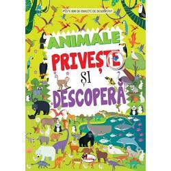 Cartea PRIVE&536;TE &536;I DESCOPER&258; – ANIMALE con&539;ine numeroase imagini atractive care solicit&259; &537;i antreneaz&259; aten&539;ia Scenele viu colorate din universul animalelor abund&259; în am&259;nunte u&537;or de urm&259;rit &537;i de num&259;rat trezind interesul &537;i oferindu-le micilor cititori ocazia s&259;-&537;i exerseze &537;i s&259;-&537;i consolideze abilit&259;&539;ile de observare în timp ce-i poart&259; în lumi