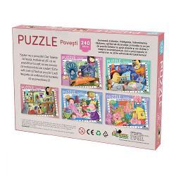 Aceste puzzle-uri cu 240 de piese sunt distractive si totodata educative pline de viata si culoare Juniorii si seniorii invata sa gandeasca logic sa caute solutii si sa reuneasca si sa potriveasca forme si culori Culori distractie si gandire Puzzle-ul reuneste aceste lucruri si asteapta sa fie rezolvat de catre copiii care iubesc povestile Imagini din cele mai indragite povesti in 240 de piese de calitate Produsul este recomandat copiilor cu varsta de peste 3 ani