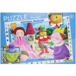 Aceste puzzle-uri cu 240 de piese sunt distractive si totodata educative pline de viata si culoare Cei mici invata sa gandeasca logic sa caute solutii si sa reuneasca si sa potriveasca forme si culori Erau trei purcelusi ce intr-o zi s-au hotarat sa-si construiasca fiecare cate o casa Unul a facut-o din paie altul din bete si altul din caramizi - asa incepe poveste Cei Trei Purcelusi Iar cel mic poate sa o descopere piesa cu piesa 240 de piese 240 de motive de distractie si de