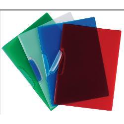 Dosar cu clema transparent albastru-fabricat din folie de polipropilen&259; cu o grosime de 520μm;-va organiza aproximativ 30 de foi;-dotat cu un clip din plastic transparent ideal pentru documente care nu ar trebui s&259; fie perforate sau capsate pentru stocarea documente