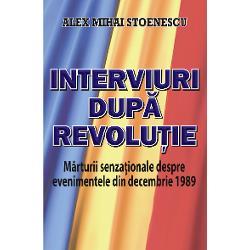 Cunoscutul istoric Alex Mihai Stoenescu autor al mai multor c&259;r&539;i în care pune sub lup&259; evenimentele ce au dus la c&259;derea regimului Ceau&537;escu revine cu un volum de interviuri inedite cu martori oculari revolu&539;ionari politicieni generali &537;i ofi&539;eri R&259;spunsurile lor completeaz&259; imaginea r&259;sturn&259;rii de sistem politic &537;i de regim din decembrie 1989 &537;i aduc clarific&259;ri despre primele luni ale anului 1990