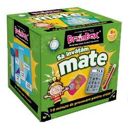 Joc educativ BrainBox Sa invatam mateIti cunosti procentele din graficele de placinta BrainBox Sa invatam mate este plin de concepte predate la scoala si nu numai Dezvoltat de un profesor de scoala primara cu experienta de predare de 30 de ani BrainBox Sa invatam mate atinge un echilibru mare intre invatare si distractieDaca esti cel mai tanar jucator tragi un cartonas din cutie si intorci clepsidra Studiezi imaginea si informatiile de pe fata