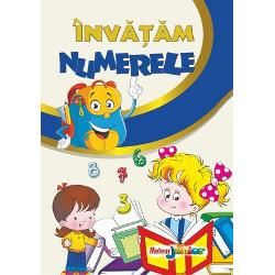 O carte frumos ilustrata cu ajutorul careia copilul poate invata sa numere si de asemeneapoate exersa scrierea cifrelor pe spatiile special concepute