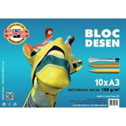 Bloc desen Koh-I-Noor Girafa, A3, 180g, 10 file K99200A3006SF imagine librarie clb