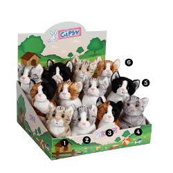 Pisica - jucarie din plus cu sunet 22cmdimensiune 22 cmpoti alege unul din cele6 modele disponibile te rugam sa specifici modelul dorit in campul observatii la plasarea comenzii