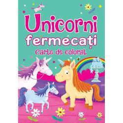 Patrunde in lumea fermecatoare a unicornilor Aceasta carte de desenat este perfecta pentru admiratorii de pretutindeni ai unicornilor