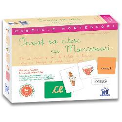 Activit&259;&539;i concepute de o educatoare Montessori pentru a-i &238;nso&539;i pe copii pe drumul &238;nv&259;&539;&259;rii citit-scrisuluiAceast&259; caset&259; ludic&259; &537;i practic&259; con&539;ine- Dou&259; Jocuri de jetoane care invit&259; copiii s&259; descopere literele &238;ntr-o manier&259; senzorial&259;  - 8 jetoane abrazive pentru stimularea pip&259;itului v&259;zului auzului &537;i mi&537;c&259;rii  - 8 jetoane cu imagini pentru a fi