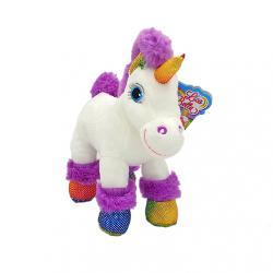 Unicorn alb si roz - jucarie din plus cu sunet 22 cm GT55665-5