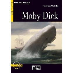 Versiune in limba engleza Moby Dick is an epic tale of the voyage of the whaling ship the Pequod and its captain Ahab who relentlessly pursues the great white whale during a journey around the world The story is seen through the eyes of Ishmael a sailor on the PequodIshmael arrives in New Bedford where he meets Queequeg a harpooner from the South Pacific who becomes his inseparable friend during the