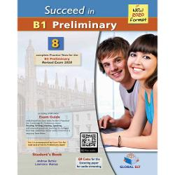 Succeed in Cambridge English B1 Preliminary - 8 Practice Tests for the Revised Exam from 20208 complete B1 Preliminary PET for Schools Practice Tests The first Practice Test comes with practical and useful Exam TipsThe full colour Exam Guide provides analytical and step-by-step advice on how to tackle each of the exam tasks for all 4 Papers of the examQR Codes for each part of the Listening paperWriting