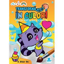 O carte de activit&259;&539;i superamuzant&259; pe care copiii o pot colora f&259;r&259; se se murd&259;reasc&259;Când cei mici vor deschide aceast&259; carte de colorat vor vedea ni&537;te ilustra&539;ii foarte nostime alc&259;tuite din punctule&539;e gri Îndemna&539;i-i s&259; ia pu&539;in&259; ap&259; &537;i s-o întind&259; pe pagini cu o pensul&259; sau cu dege&539;elele &537;i vor vedea ap&259;rând deodat&259;