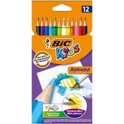 Gama de produse BIC Kids ofera instrumente de colorat special concepute pentru a oferi copiilor unelte care sunt distractive pentru ii ajuta sa creasca Aceasta cutie de creioane colorate pe baza de apa este o paleta reala a artistului multi-scop pe care copiii o pot folosi pentru a desena a culori si a picta Cand sunt scufundate in ap&259; pigmen&539;ii din plumb creeaz&259; un efect minunat de acuarela pe hartie Copiii pot intensifica efectul cu pensula nu este inclusa in pachet