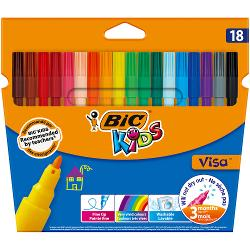 Produsele din gama BIC Kids ofera instrumente de coloriaj concepute pentru a oferi copiilor unelte usor de folosit pentru a ii ajuta sa creasca si pentru a le dezvolta creativitatea Markerele de colorat BIC Kids Visa produc o linie fina de 09 mm pentru a desena linii clare dar si detalii de colorat complexe In plus nu trebuie sa te ingrojorezi in cazul in care copiii deseneaza pe hainutele lor Cernelurile pe baza de apa se spala de pe majoritatea tesaturilorMarkerele de