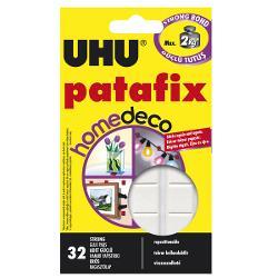 Tablete de adeziv - UHU - Patafix Homedeco 32 TBTablete de adeziv pentru lipirea bucatilor de hacrtie si obiectelor de mici dimensiuni pe marea majoritate a materialelor inclusiv pe lemn plastic sticla metal portelan si multe altele Se utilzeaza acasa la birou sau la scoalaRepozitionabileReutilizabileMontaj rapid32 tabletePuternice se pot repozitiona si reutiliza pentru decoratiuni sub 2kg