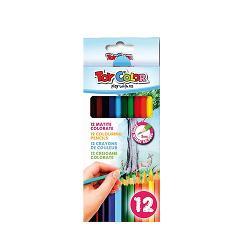 Creioane colorate Toy Color 12 culoriCreioanele colorate au form&259; hexagonal&259; &537;i grosimea scrierii de 3 mmSunt fabricate din lemnSetul con&539;ine 12 culori vibranteSunt foarte u&537;or de ascu&539;it &537;i de utilizatSunt recomandate pentru utilizarea la &537;coal&259;Sunt recomandate copiilor cu vârsta de peste 3 aniRespect&259; reglement&259;rile europene de compozi&355;ie chimic&259;