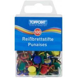 Pioneze colorate din metal-100 buccutie Ambalaj cutie din plasticProdus de Toppoint-Germania