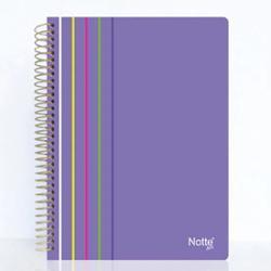 Caiet Notte Arc coperta PP cu spira dictando Format A4 100 file hartie gramaj 60 grmp Diverse culori