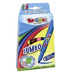 Carioci Toy Color Jumbo 6 culoriCariocile Jumbo ofer&259; o gam&259; de culori intense &537;i str&259;lucitoare au un vârf conic de 5 mm &537;i cerneal&259; pe baz&259; de ap&259;Pentru siguran&539;a copiilor capacul are microperfora&539;ii În cazul înghi&539;irii copilul poate respira &537;i este în siguran&539;&259;Asigur&259; p&259;strarea cernelii în condi&539;ii optime &537;i o lung&259; durat&259; de