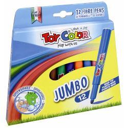 Carioci Toy Color Jumbo 12 culoriCariocile Jumbo ofer&259; o gam&259; de culori intense &537;i str&259;lucitoare au un vârf conic de 5 mm &537;i cerneal&259; pe baz&259; de ap&259;Pentru siguran&539;a copiilor capacul are microperfora&539;ii În cazul înghi&539;irii copilul poate respira &537;i este în siguran&539;&259;Asigur&259; p&259;strarea cernelii în condi&539;ii optime &537;i o lung&259; durat&259; de