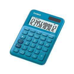 Calculator de birou Casio, 12 digits, albastru MS-20UC-BU
