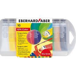 Tempera Eberhard 12 ml 10 culoricutie plasticbr