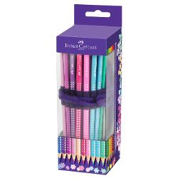 Rollup 20 Creioane Colorate Sparkle+Accesorii Faber-Castell 201738