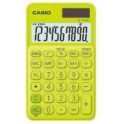 Calculator portabil Casio SL-310UC 10 digits Calculatorul este prevazut cu ecran LCD cu 10 digits iar tastele prezinta semnele de comanda a functiilor Date generale • Ecran LCD mare • Calcule statistice • Alimentare duala-solara si baterie • Carcasa plastic colorata • Taste tactile • Dimensiuni 118 x 70 x 84 mm Functii • Calcularea impozitelor • Calcul procentaj profesional • Marja profitului prin tasta  • 4 taste de memorie • 3