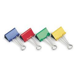Clipsuri metalice Rapesco 19 mm diverse culori 10 bucatiset