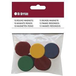 Set de 10 magneti Bi-Silque in diferite culori pentru orice tip de tabla magnetica Magneti puternici ideali pentru sustinerea documentelor sau simbolizare datorita culorilor ale acestora Usor de folosit si foarte practici