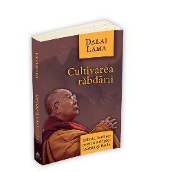 Facand distinctia intre resemnare si toleranta Dalai Lama sugereaza ca atitudinea esentiala in depasirea maniei si a urii este sa adoptam in mod constient rabdarea aceasta pozitionare ferma fata de adversitati provenita dintr-un temperament stabil neperturbat de framantari exterioare sau interioare Prezentata sub forma invataturilor sustinute de Sanctitatea Sa Dalai Lama in fata publicului carteaCultivarea rabdariieste o analiza detaliata asupra celor trei