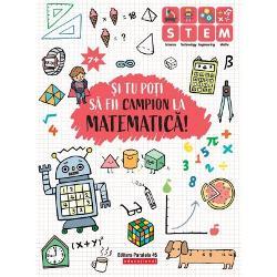 PRIN EXERCITIU POTI DEVENI campion la MATEMATICAAceasta carte contine peste 300 de activitati adunari scaderi inmultiri impartiri descoperirea formelor citirea ceasului etc Ele sunt distractive si vin in completarea notiunilor care se invata la scoalaTIPURI DE ACTIVITATIPe fiecare pagina sunt cate opt activitati Fiecare pune accentul pe ceva anume de la cunoasterea numerelor la operatii matematice trecand printr-o serie de probleme