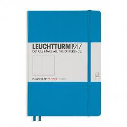 LT346695 Notes A5 Coperta Rigida Albastru Azur- Interior Punctat