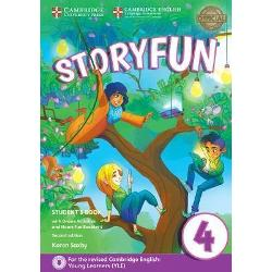 Enjoyable and engaging practice for the revised 2018 Cambridge English Young Learners YLEStoryfun Level 4 Students Book provides full-colour preparation material for Cambridge English Movers It contains eight fully-illustrated stories with accompanying activities for students to enjoy These include songs and exam-style questions that practise the grammar vocabulary and skills needed at each level Extra speaking practice and projects provide opportunities for extension