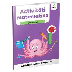 Colec&539;ia de caiete de lucruActivit&259;&539;i pentru pre&537;colarise adreseaz&259; deopotriv&259; p&259;rin&539;ilor &537;i educatorilor care le pot folosi drept material de lucru cu copiii Pentru fiecare segment de vârst&259; – 3-5 ani grupele mic&259; &537;i mijlocie &537;i 5-67 ani grupa mare – exist&259; câte patru caiete tematice potrivite diferitelor