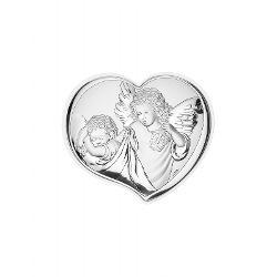 Icoana argintata Ingeras protectorToate inceputurile au nevoie de protectie iar un ajutor divin este cel mai mare dar care poate fi primit de copilEste un cadou potrivit pentru zi de nastere casa noua botez sarbatori religioase