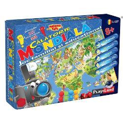 Joc pentru copiii din intreaga lumeEste un joc de familie de informare-joc educational Este un joc interesant pentru intreaga familie Luptandu-se pentru victorie jucatorul se imbarca intr-o calatorie virtuala si primeste informatii si cunostinte interesante despre locuri si fapte de pe intreg mapamondul Jocul este incredibil de interesant pentru toate varsteleJocul contine1 camp de joc 96 carduri 84 jetoane 4 cifre 1 zar 60