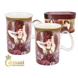 Set format din 2 cani din ceramica fiecare avand 0275l adecvate pentru ceai cafea sau lapteSetul este ambalat in cutie cadou personalizataModelMucha AmetistCod articol 5390502Marca