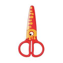 Foarfeca plastic presc KEYROAD KR971405 Kids Pro Peste portocaliu 1 bucblister