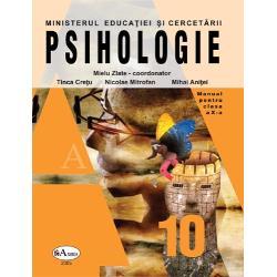 Manualul Pshihologie pentru clasa a X-a ofera informatii despre psihologie si obiectul ei de studiu prezinta instrumentele psihice necesare procesarii informatiilor In cuprinsul manualului mai gasim capitole depre Reglarea psihica a comportamentului Personalitatea - ca mecanism psihic interior- si Personalitatea in contextul vietii sociale