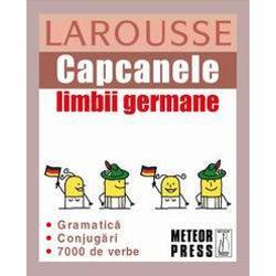 Capcanele limbii germane vi se adreseaza daca &183;        vreti sa revedeti rapid principalele dificultati ale limbii germane chiar inaintea unui examen; &183;        plecati in calatorie si se impune o mica revizuire a regulilor gramaticale din limba germana pentru a comunica u &351;or  &351;i corect; &183;        nu va mai amintiti conjugarile; &183;        ati uitat care este diferenta dintre nicht si kein Capcanele limbii germane va ofera &183;        un raspuns limpede si