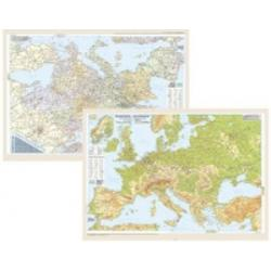 Harta Europa fizica administrativa imagine librarie clb