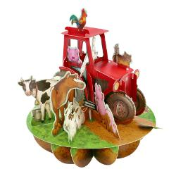 Felicitare 3D Pirouettes Santoro-Tractor si ferma animalelor Felicitarea 3D Pirouettes Santoro-Tractor si ferma animalelor O felicitare 3D adorabila care te invita sa te bucuri de culoare si animale domestice preferate intr-o ipostaza vie si amuzanta Felicitarea se deschide printr-o simpla miscare a manerului in jurul bazei pana ajunge in pozitia de blocare si felicitarea va ramane deschisa cu o