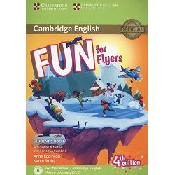 Fourth edition of the full-colour Cambridge English Young Learners YLE preparation activities for all three levels of the test Starters Movers Flyers updated to reflect the new revised specifications which will be out in January 2018Fun for Flyers Students Book provides full-colour preparation for Cambridge English Flyers Fun activities balanced with exam-style questions practise all the areas of the syllabus in a communicative way and support young learners in the