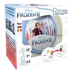 Noul jocDobbleFrozen 2ii aduce pe Elsa Anna Kristoff Olaf si Sven chiar la voi acasa Va veti putea testa abilitatile spiritul de observatie si reflexele in acest joc despre alegeri fulger cu personaje si simboluri din indragitul film Frozen 2Ca si clasiculDobble un joc premiat pentru toate varstele acesta functioneaza cu mecanici simple exista treizeci de carti care au fiecare imagini multiple dar