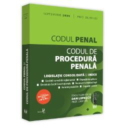Codul penal si Codul de procedura penala septembrie 2020 Editie tiparita pe hartie albaProf univ dr Dan LupascuCODUL PENAL SI CODUL DE PROCEDURA PENALA SEPTEMBRIE 2020INCLUDE&9679; corelatii cu vechile reglementari&9679; dispozitii de aplicare&9679; decizii ale Curtii Constitutionale&9679; recursuri in interesul legii&9679; hotarari prealabile&9679; dispozitii conexe&9679;